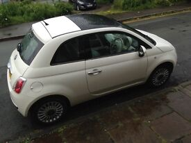 Fiat 500 1.2l Lounge. Private Plate not included. Full 12 month MOT, service history. Great car.