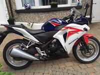 2011 honda cbr250 with only 955 miles from new ,bike is spotless must be seen finance available