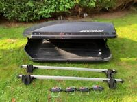 Exodus Car Roof Box and Thule Roof Bars