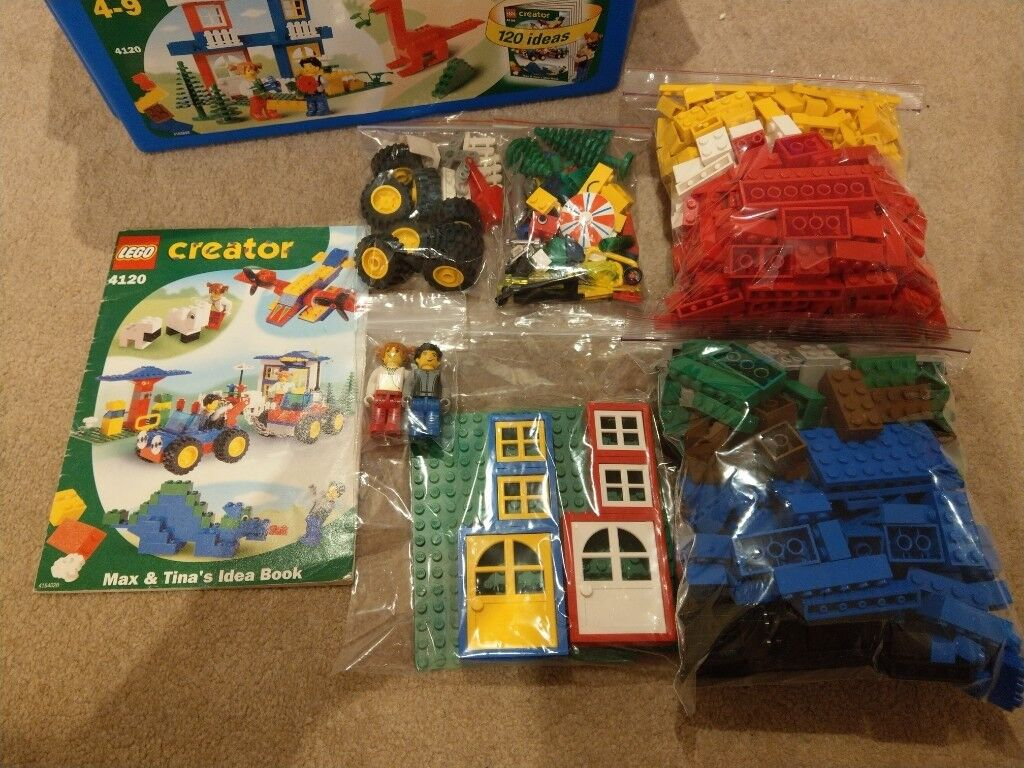 Lego Creator Box With Over 600 Bricks And 120 Ideas Book In