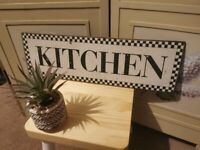 Retro/vintage/rustic enamel kitchen sign