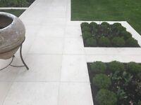 Stunning brand new Italian porcelain exterior tiles in beige
