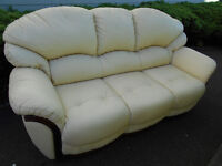 Lovely leather 3 seater sofa *can deliver