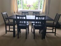 Dining table for 6 with 6 chairs