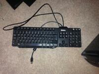 Dell Qwerty UK Keyboard USB Black English computer pc