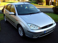 Ford Focus 2003 (53) 1.8 LX 16V Hatchback Petrol 115HP Moondust Silver only 73K miles with extras !!