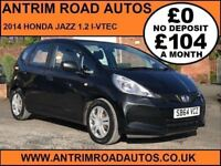 2014 HONDA JAZZ I-VTEC S 1.2 ** FULL SERVICE HISTORY ** FINANCE AVAILABLE WITH NO DEPOSIT **