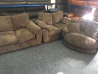 NEW / EX DISPLAY DFS 2 + 2 Seater Cord Sofas + Cuddle, Love, Swivel Chair
