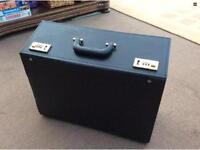 Black leather executive suit case