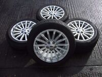 """RANGE ROVER SPORT L320 FACELIFT GENUINE 19"""" ALLOY WHEELS WITH TYRES DISCOVERY 3 4 T5 TRANSPORTER"""