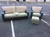 3-Seat Sofa, Chair and Footstool (@07752751518)