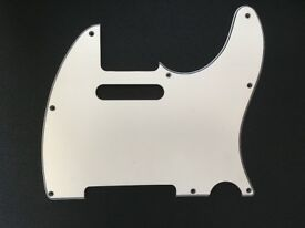 Fender Japan Telecaster Pickguard 60s White MIJ Japanese Scratchplate Scratch Plate Pick Guard Tele