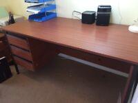 Large retro desk & chair