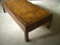 MILITARY STYLE SOLID WOOD COFFEE TABLE