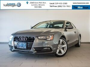 2013 Audi A5 2.0T PREMIUM With LEATHER+HEATED SEATS+GLASS ROOF