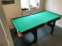 6ft folding pool/snooker table with accessories - Excellent condition!