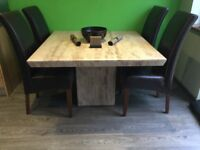 Marble/Travertine Dining Table (will seat 6)