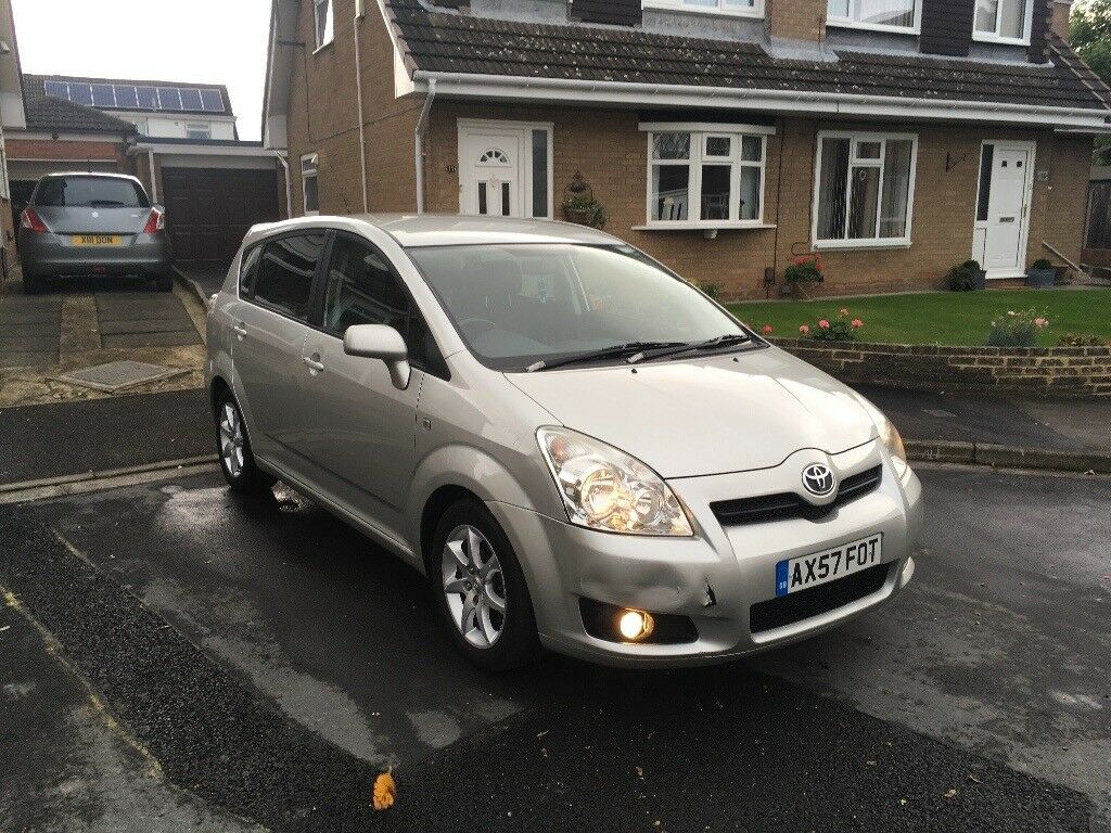 2008 toyota corolla verso 7 seater diesel mot in darlington county durham gumtree. Black Bedroom Furniture Sets. Home Design Ideas
