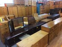 Quality used solid wood / pine dressing table / desk / sideboard / court dresser