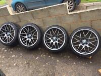 "BMW 19"" CSL brand new alloys + good tyres"