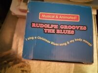 Rudolph Grooves The Blues Christmas Toys For Kids- Ages 3 &Up. Opened Never Used.