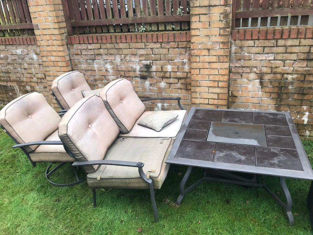 Dobbies garden furniture with fire pit