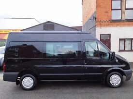 Ford Transit MWB 125bhp 6 seat factory fitted crew van TREND panther black NO VAT (48)
