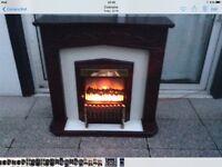 Mahogany Electric fireplace
