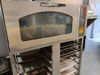 Professional oven with base & trays