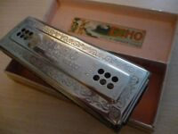 m hohner beautiful quality doublesided harmonica (mouth organ)can play on both sides,amazing tone...