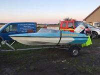 Shockwave 14ft speed boat with 50hp Suzuki engine