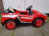 Kids red electric car