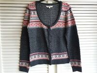 Fat Face Knitted Cardigan Top Size UK 12 Ladies' Women's Clothes