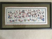 Chinese embroidered picture