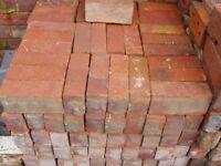 """160 - 3"""" Recalimed Red Facing Bricks"""