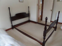 """Stag Minstrell Mahogany double bed frame (4ft 6"""")."""