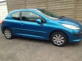 57 REG PEUGEOT 207 1.4 M PLAY 44K MILES NEW CLUTCH like corsa clio punto yaris jazz civic micra c3