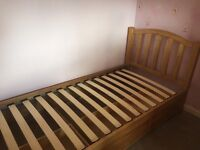 Good quality solid single bed with three drawers
