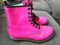 Pink Dr Martin boots UK 6