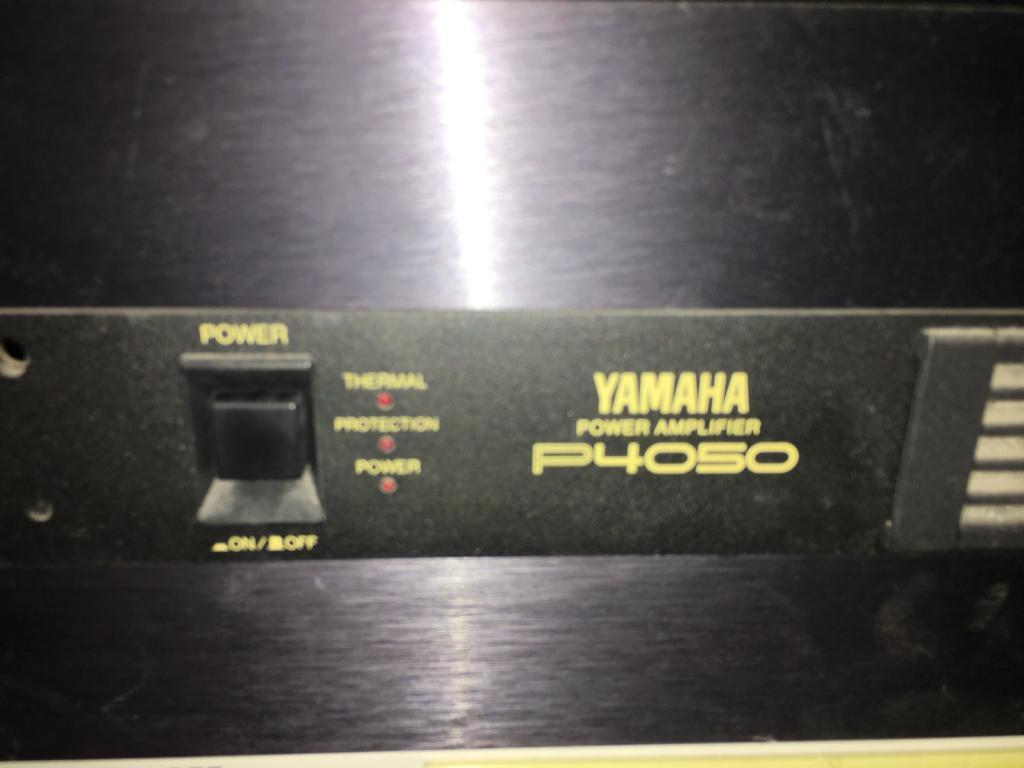 Yamaha P4050 Amplifier And 2 Others
