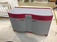 Pink and Grey Vintage Sideboard