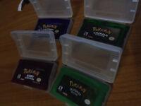 4 x Pokemon GBA Games - Ruby/Sapphire/Emerald/Leaf Green - £20.00