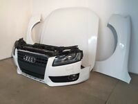 One unit: OEM Front end Left hand drive Audi A5 8T3 2 TFSi 2009 - 2015 headlight bonnet radiator LHD