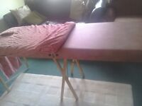 Beauty thearpy couch folding as new with cover. Excellent condition