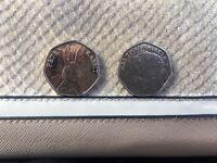 Collectible Beatrix potter 50p coins