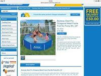 Bestway 8ft x 24 Octagon Frame Swimming Pool