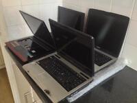 Joblot laptops - 4x working spares/repairs