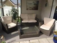 Grey-brown all weather patio furniture