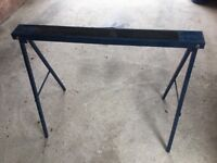 TOTAL OF EIGHT TRESTLE TABLE LEGS