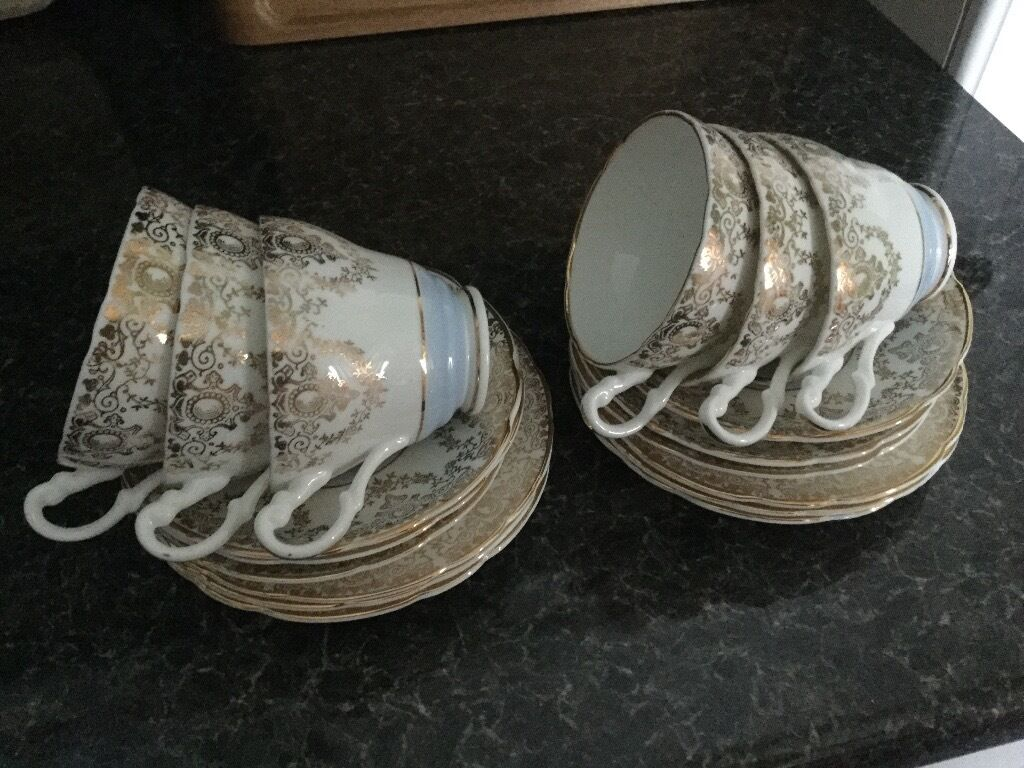 Bone China Tea Set with 22ct gold